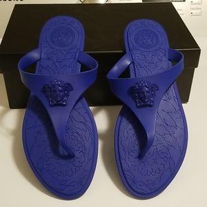 Blue versace sandal. Size 39.5